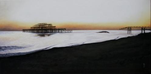 Brighton West Pier- Tranquil sunset